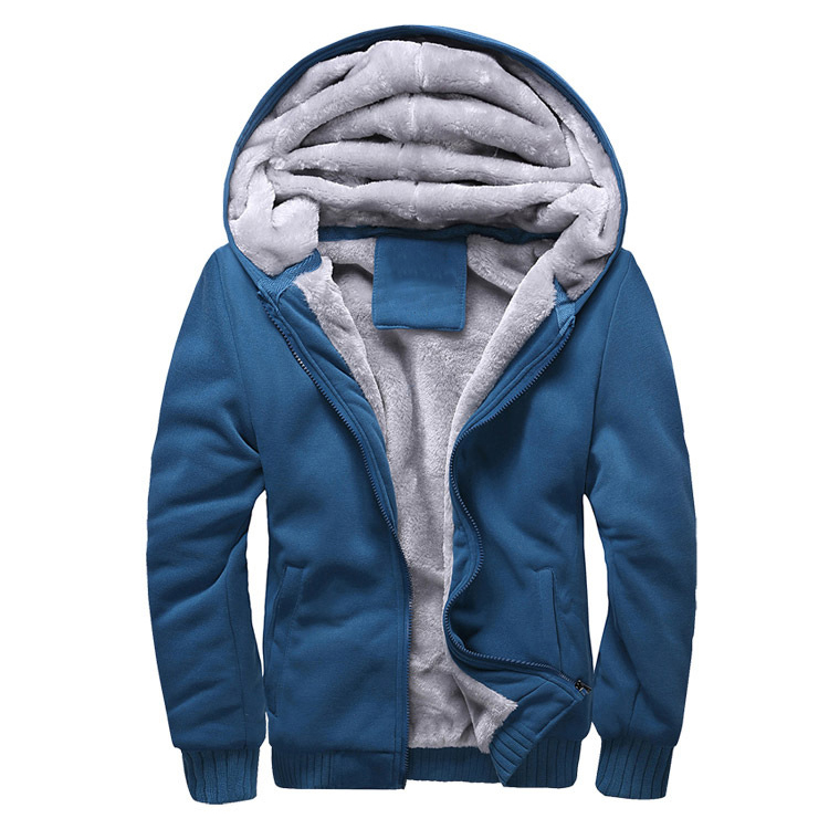 Fashion Clothing 2017 Fleece XXXXL Hoodies Jacket Men Winter