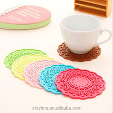 Desk beatiful mat silicone cup mat