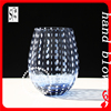 wholesale handmade Wathet blue whiskey glass with regular points ZDL0001c