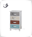 Cheap industrial vintage nature wood 4 drawer chest furniture