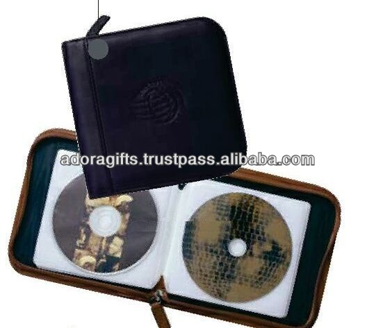 ADACD - 0036 fashionable leather dvd hard case / 6 disc dvd case / best quality cd case holder