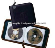 fashionable leather dvd hard case / 6 disc dvd case / best quality cd case holder