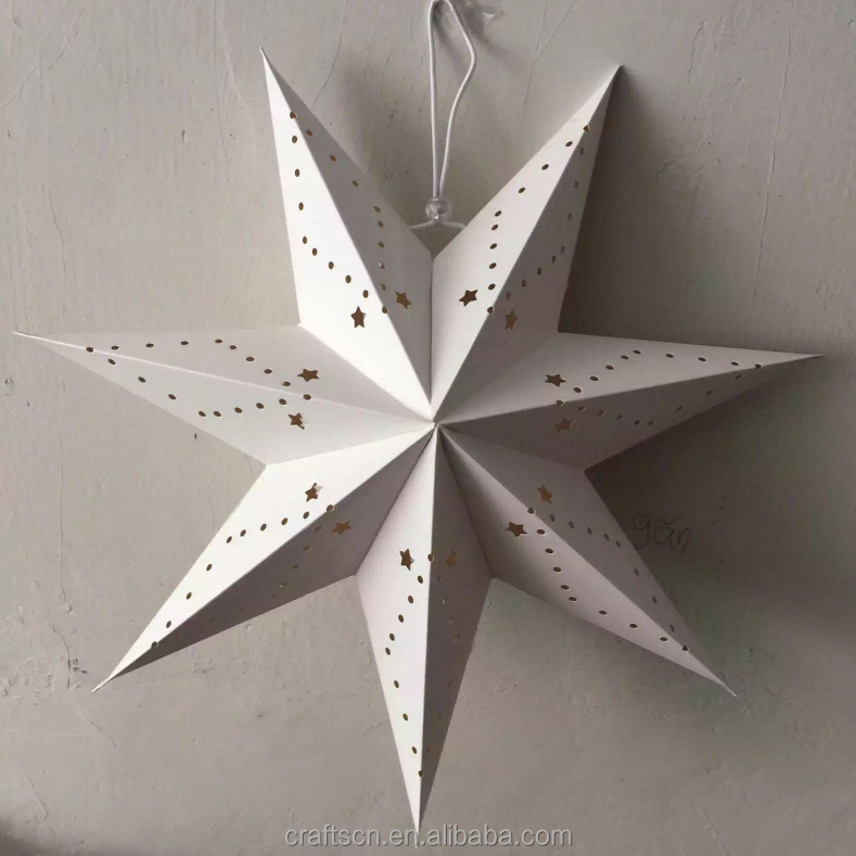 seven star hanging paper star lantern for Christmas