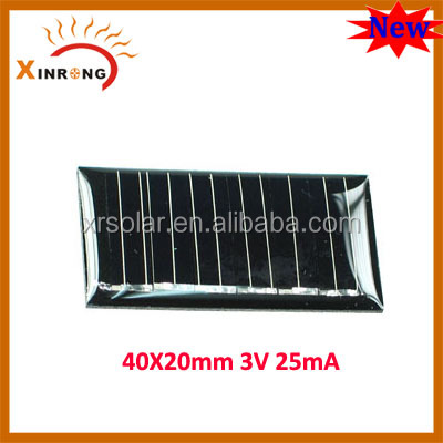 40X20MM 3V 25mA Small Watt Wholesale Solar Cell