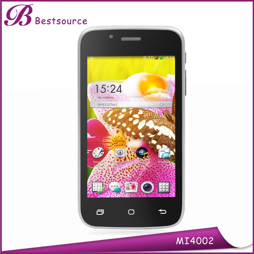 4inch Dual SIM dual standby high configuration android phone, smart phone with whatsapp, infrared sensor smart phone