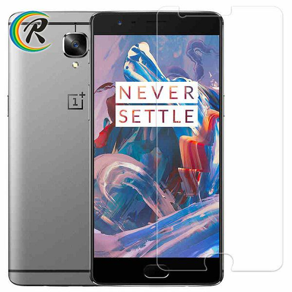 High quality new style mobile phone blue film screen protector for OnePlus 3 glass