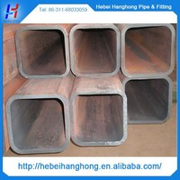 180mm hot selling ms square pipe price, thick wall heavy weight ms square pipe