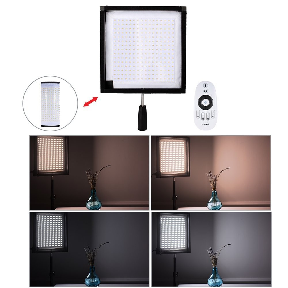 2.4GHz 30 x 30 CM Bi-color Flexible led photographic light or led video light