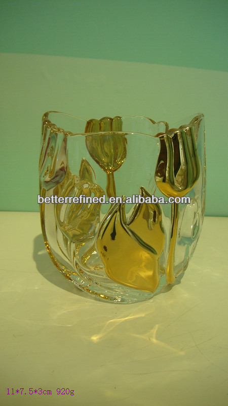 crystal glass tulip knife and fork holder