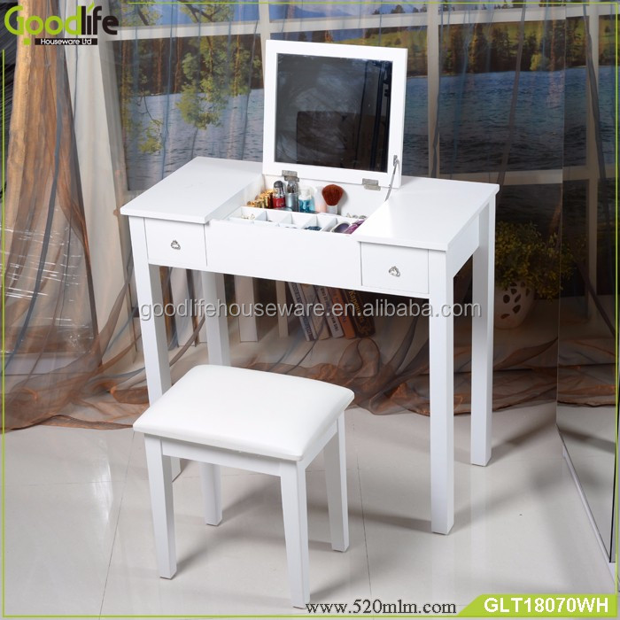 Goodlife bedroom furniture wooden dressing table with modern designs in White
