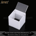 OEM/ODM Colorfule Acrylic Cube Box With Hinged Lid