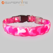 DC-1C LED Pet Collar Safety Meisai Light up Dog Collar With Plastic Buckle