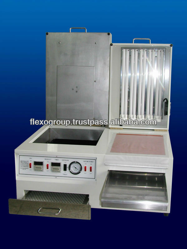 factory supply rubber vulcanizing machine/rubber stamp making machine www.flexo.co.in