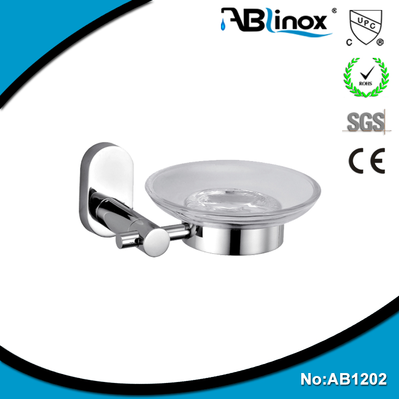 2015 ABLinox Fashion 304 stainless steel bathroom accessories wall-mounted soap dish