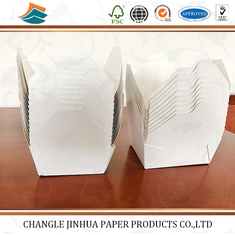 Disposable packaging fast food paper box/fast food packaging