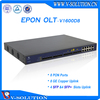 Professional FTTH GEPON Fiber Optic 1U 3 Layer Route 8 SFP and 8GE Uplink 8 Pon 1:64 Splitting Ratio EPON OLT with SNMP and CLI