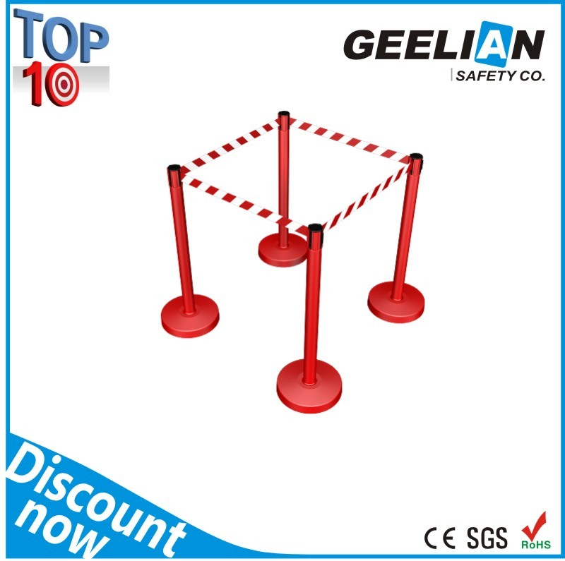 Retractable Pedestrian Belt Barrier/Queue Stanchion In High Quality