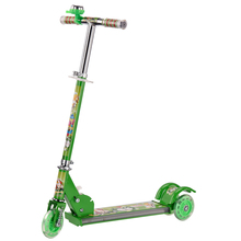 Economic and efficient 3 wheels music kick scooter with bell for kids