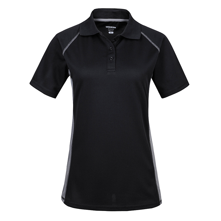 Fancy design polyester/cotton sport short sleeve plain couple polo shirt women