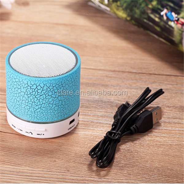 Hot!LED mini wireless bluetooth speaker with USB FM support TF Card with microphone
