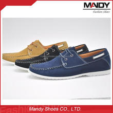Wholesale lace-up genuine leather shoe rubber outsole man leather shoe