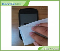 Luxury popular high quality mobile screen protector+ wet wipes +dust removal mobile