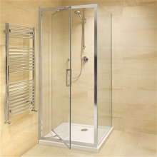 DOMO top supplier 6mm Tempered glass 80x80cm bath top shower screen