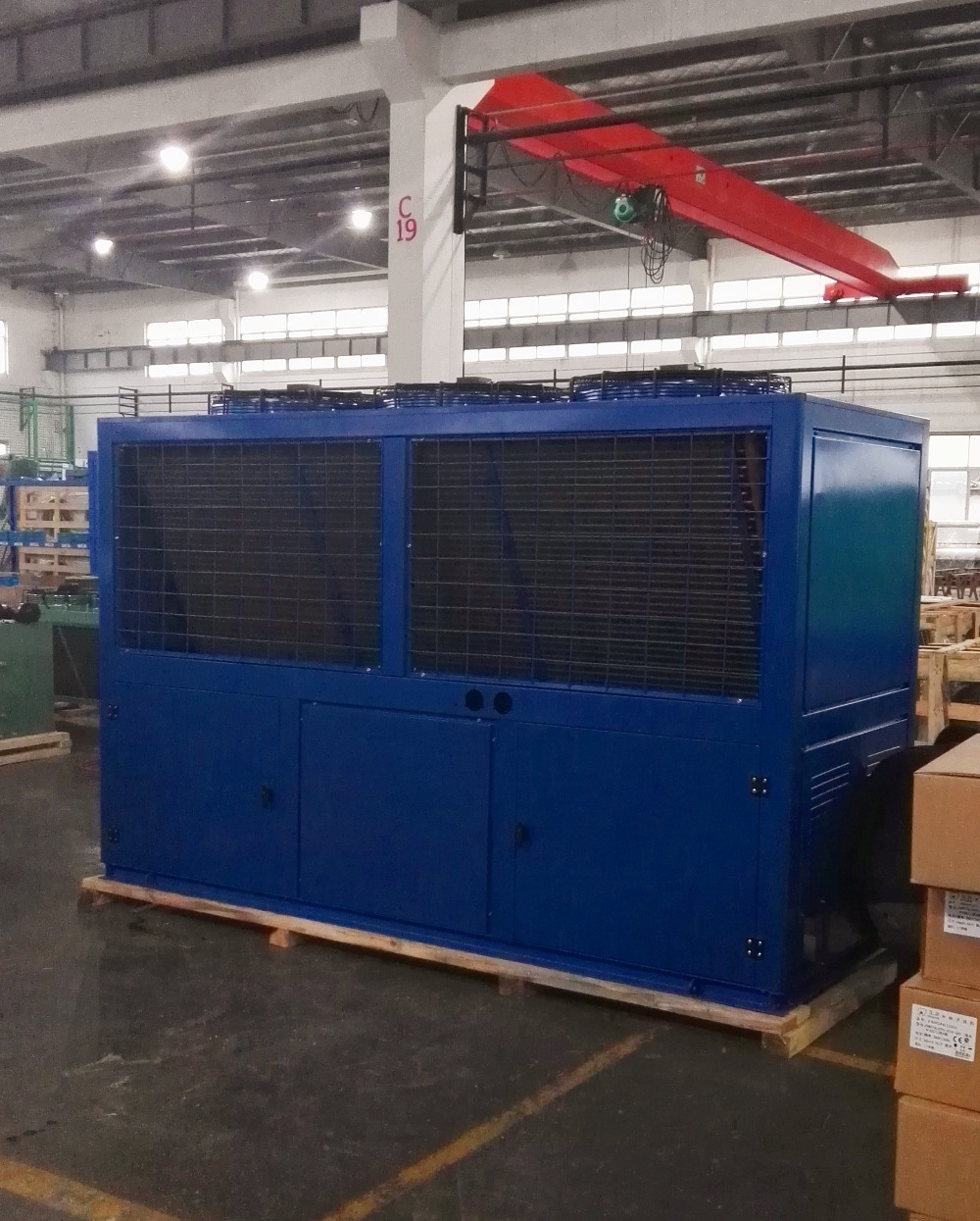 V type air cooled condenser for cold storage room refrigeration equipment