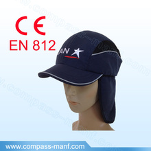Railway Worker Bump Cap Safety Bump Cap with Long Brim and Neck Cover, navy blue