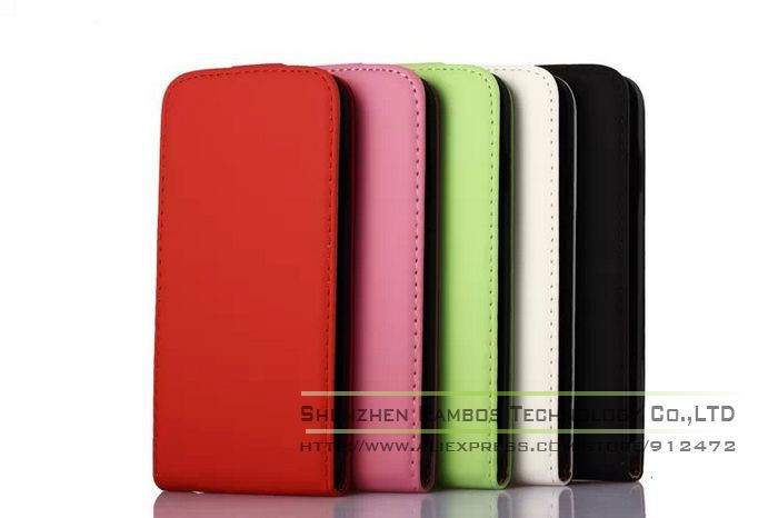 Magnetic Smart Cell Phone Accessory Phone Leather Vertical Case Pouch for iPhone 5S