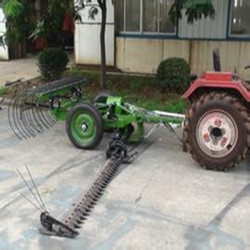 cutting and raking machine