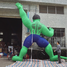 Customized giant inflatable monster savage hulk Climb a wall cartoon character for show advertising