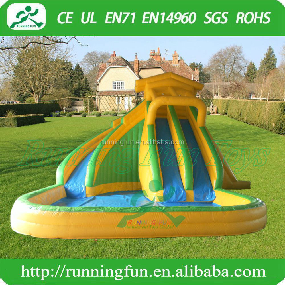 Backyard kids inflatable water slide with pool, inflatable water game toys for kids