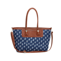 2015 Denim PU Leather Women Handbag Shoulder Bag with Dual Function,Cheap Price,Fast Shipping From China Bags Wholesaler