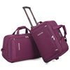Promotion easy carry polyester rolling duffel bag set men sport travel bag with trolley