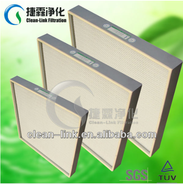 Air conditioning system Mini fibregalss filter paper HEPA Panel filter