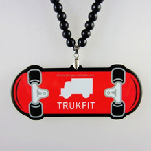 acrylic Snowboarding pendant hiphop necklace custom pendant hiphop necklace cheap promotional necklace jewelry