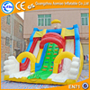 Professional inflatable double lane slip slide, sewing commercial inflatable slide