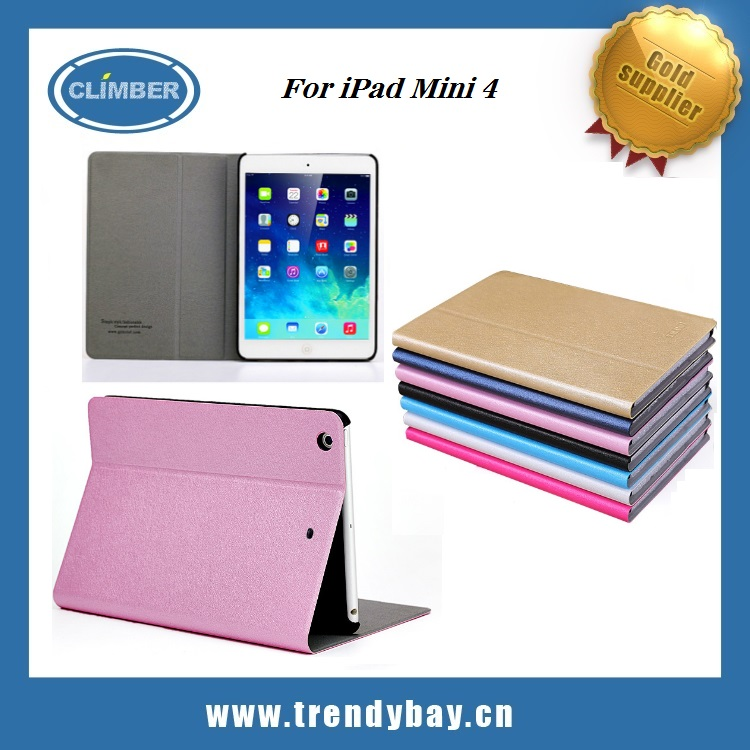 Diluo brand rainl series book flip cover for iPad mini 4 case