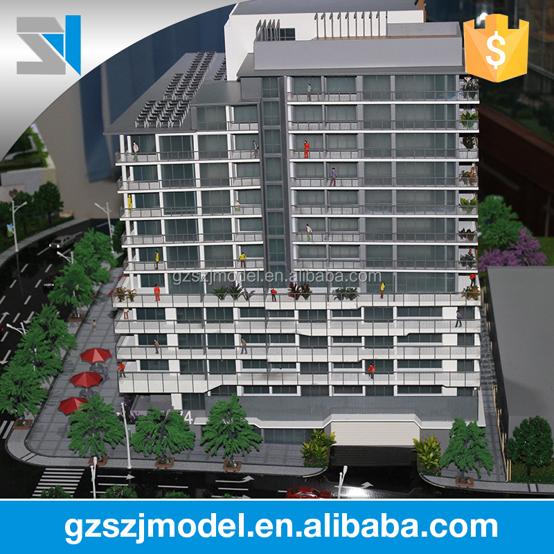 Apartment with imported organic glass miniature building scale model