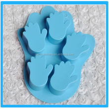 4pcs Palm Shaped Silicone Backing Mould Kitchen Silicone Cake Cookie Mould