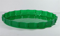 Wholesale Unique Custom Green ABS Hard Round Palstic Serving Tray
