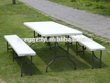 Plastic table and chair for outdoor,plastic table and chair for camping /picnic/patio/banquet