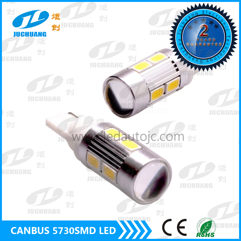 T10 Canbus 168 194 W5W Wedge 10 SMD 5730 Light bulb CANBUS ERROR FREE T10 LED Light for car