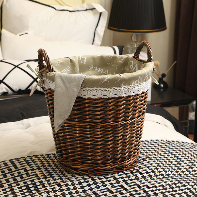 Wholesale all kinds of beautiful hand woven storage basket with handles