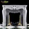 Indoor Used Marble Decorative Stone Carving Fireplace Mantels