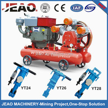 Sales to Zimbabwe Gold Mining Diesel Mobile Piston Air Compressor W-3.5/7 / Small Mobile Piston Air Compressor W-3.5/7