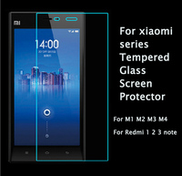 Anti-explosion Tempered Glass Screen Protector For XiaoMi MI M1 M2 M3 M4 Note Film Case For Hongmi Red Rice Mi RedMi 1S 2 3 4