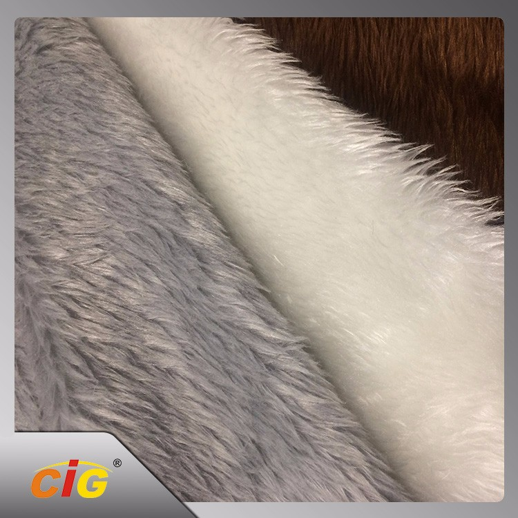 Factory Price Soft Touch Printed Artificial Faux Fur Fabric