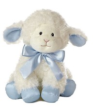 "12"" Sitting High Plush Lamb Sound Toy/Stuffed Lamb with Soft Music /Musical Toy Soft White Sheep Battery Powered"